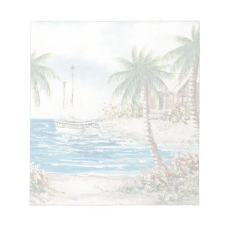 Painting Of A Sailboat In Hawaii Notepad