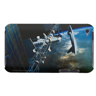 Painting of a Space Station Above Earth iPod Touch Case