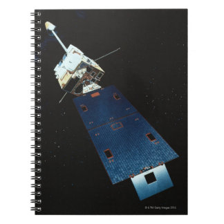 Painting of a Weather Satellite Spiral Notebook