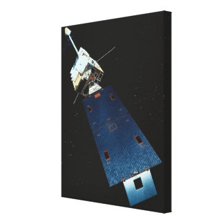 Painting of a Weather Satellite Stretched Canvas Print