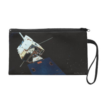 Painting of a Weather Satellite Wristlet