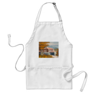 Painting Of An Old Pennsylvania Covered Bridge Apron