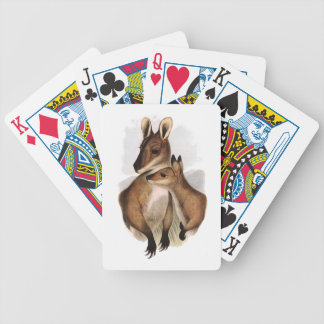 Painting of Australian Wallaby and Baby Card Deck