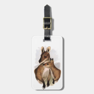 Painting of Australian Wallaby and Baby Luggage Tags