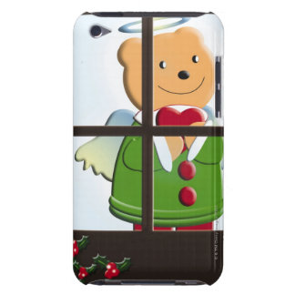 Painting of bear angel, Illustration iPod Touch Case