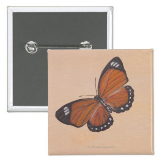 Painting of butterfly 15 cm square badge