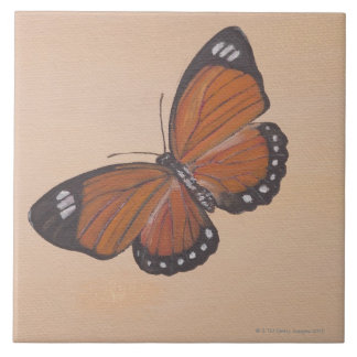 Painting of butterfly ceramic tiles