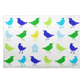 Painting of Colored Birds by Chariklia Zarris Placemat