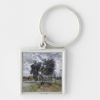 Painting of Countryside Key Ring