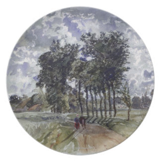 Painting of Countryside Plates