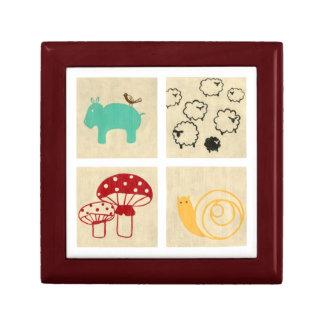 Painting of Four Children's Wood Blocks Gift Box