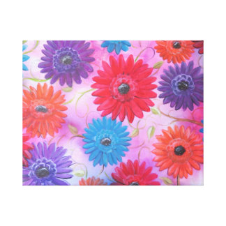 painting of gerber daisies stretched canvas prints