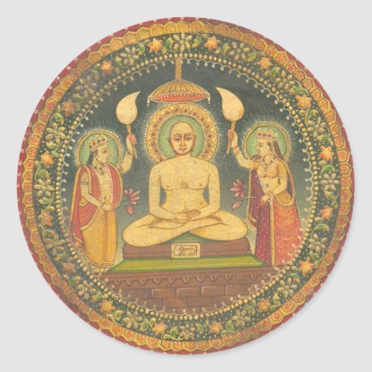 Painting of Mahavira Classic Round Sticker