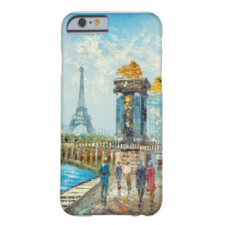 Painting Of Paris Eiffel Tower Scene Barely There iPhone 6 Case
