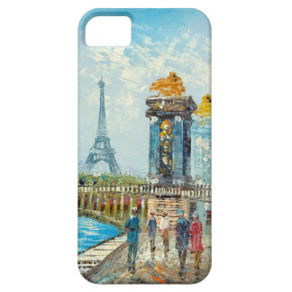 Painting Of Paris Eiffel Tower Scene Case For The iPhone 5