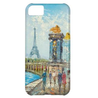 Painting Of Paris Eiffel Tower Scene iPhone 5C Case
