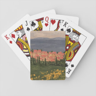Painting of Provence France on Playing  Cards