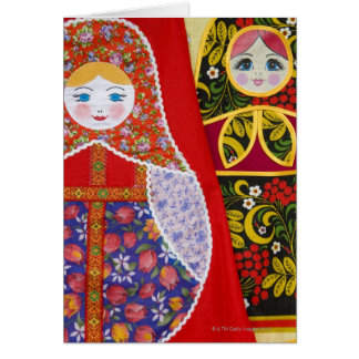 Painting of Russian Matryoshka doll Card
