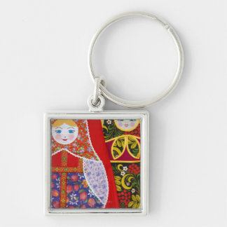 Painting of Russian Matryoshka doll Key Ring