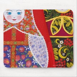 Painting of Russian Matryoshka doll Mouse Mat