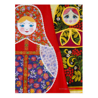 Painting of Russian Matryoshka doll Postcard