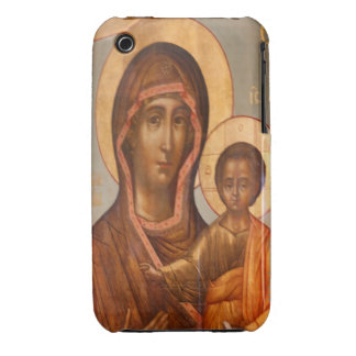 Painting of the Virgin Mary with Jesus Christ iPhone 3 Case
