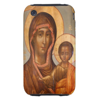 Painting of the Virgin Mary with Jesus Christ Tough iPhone 3 Covers