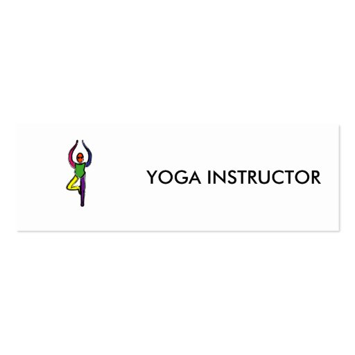 Painting of tree yoga pose. business cards