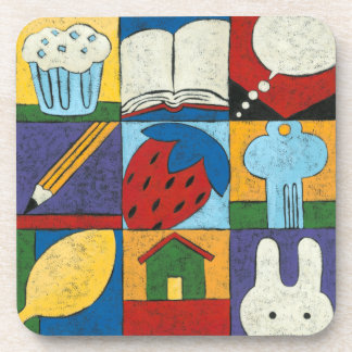 Painting of Various Objects by Chariklia Zarris Coaster