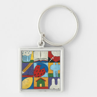 Painting of Various Objects by Chariklia Zarris Key Ring