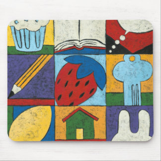 Painting of Various Objects by Chariklia Zarris Mouse Mat