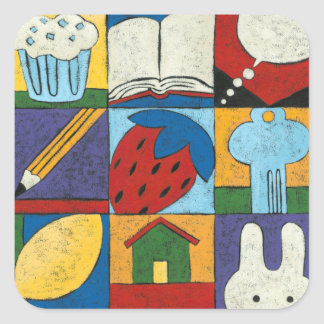 Painting of Various Objects by Chariklia Zarris Square Sticker