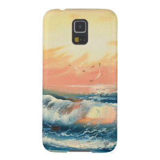 Painting Of Waves At A Beach Galaxy S5 Cover