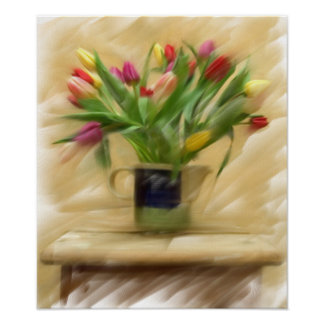 Painting on Canvas.  Tulips - Customized Poster