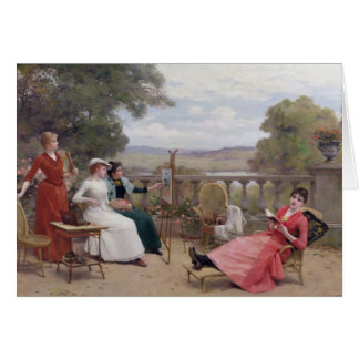 Painting on the Terrace Card