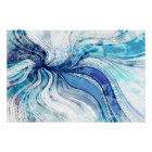 Painting on Watercolor Splatter Texture Poster