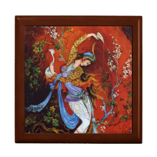Painting Persian Girl Pouring wine from jug Gift Box