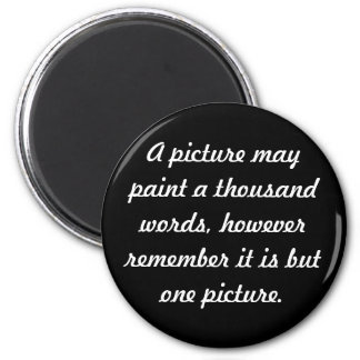 Painting pictures 6 cm round magnet
