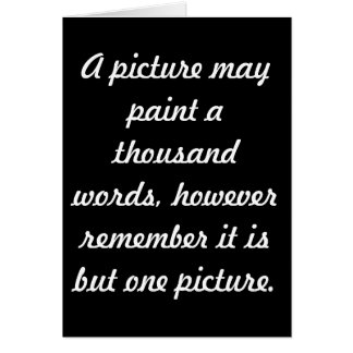 Painting pictures card