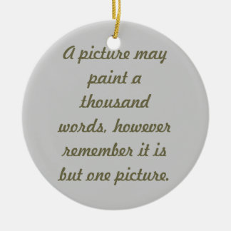 Painting pictures christmas ornament