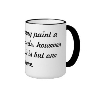Painting pictures ringer mug