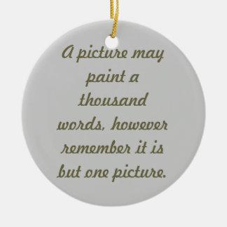 Painting pictures round ceramic decoration