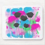 painting poppy tapis de souris