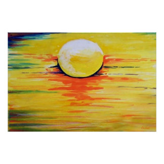Painting Poster sun Colors of the Sun