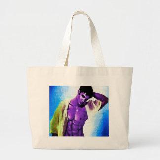 Painting Purple People Eaters Tote Bags