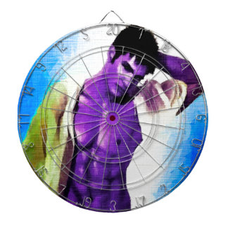 Painting Purple People Eaters Dartboard With Darts