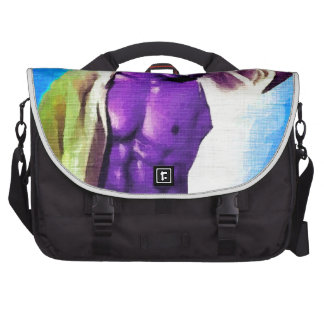 Painting Purple People Eaters Commuter Bags