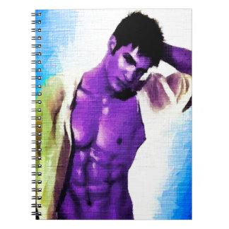 Painting Purple People Eaters Spiral Notebook