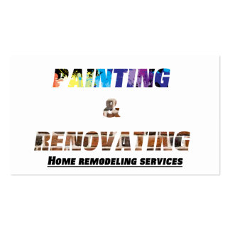 Painting & Renovating Services Business Card