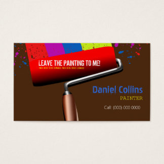 Painting Roller Painter Business Card